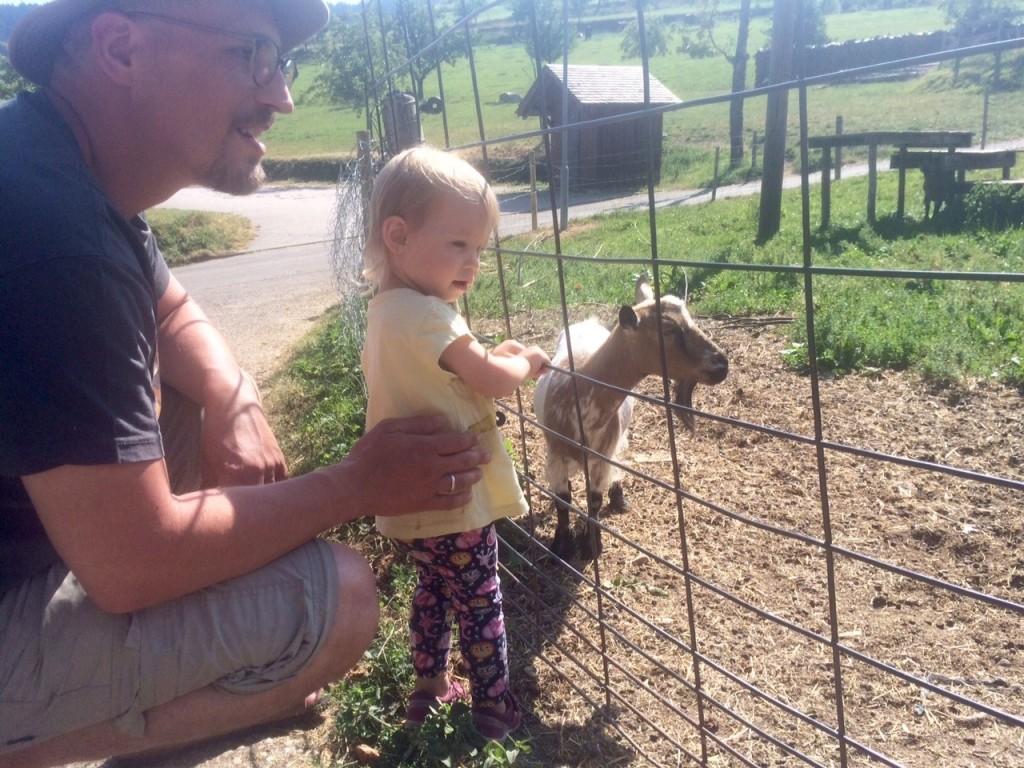 Lilly mit Ziege